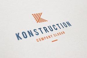 Konstruction Logo - Letter K Logo