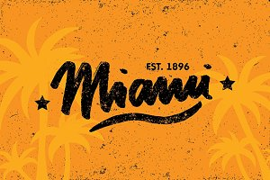Miami Calligraphy Vector Template