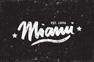 Miami Caligraphy Vector Template