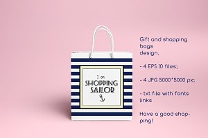 Gift and shopping bags design.vector