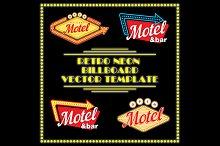 Retro Neon Motel Billboard