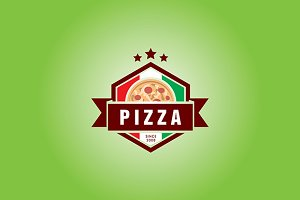 Pizzeria Vector Logo Template