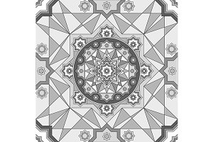 geometric ornament seamless pattern