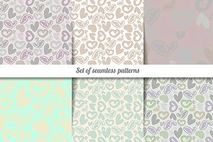 Set vintage patterns