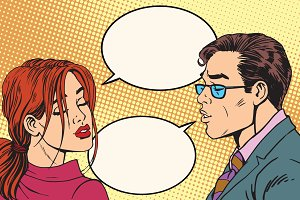 kiss Male and female dialogue