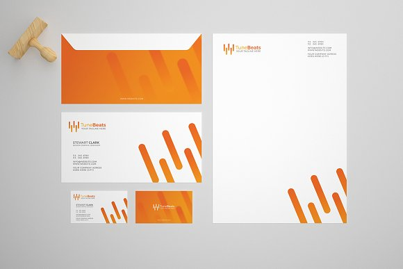 tune beat stationery design template stationery templates