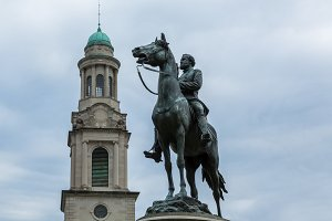 Statue on horse in Washington DC