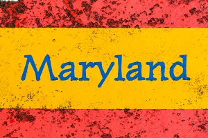 Maryland sign in red and yellow