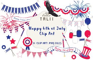 SALE! Happy 4th of July Clip Art