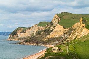 West Bay in Dorset, England