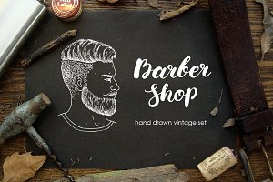 Barber Shop Sketch Set