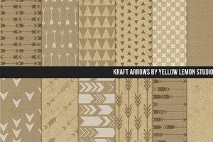 Kraft Paper Arrows Digital paper