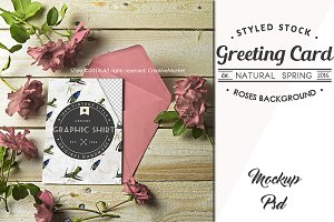 Card Mockup Styled Stock Photograph-