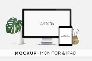 MOCKUP . Monitor & iPad