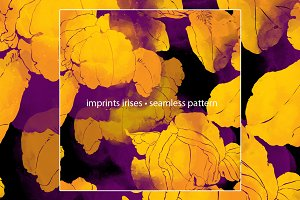 imprints irises. seamless pattern