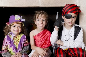 Children dressed as pirates