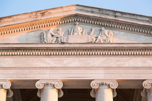Detail of carving on Jefferson DC