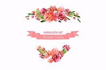 №132 Watercolor flowers
