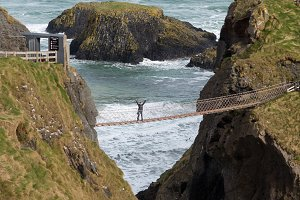 Carrick a Rede rope bridge Ulster