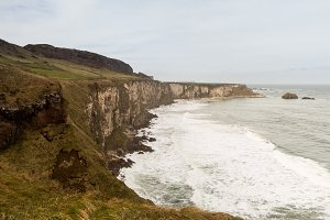 Coastline to Carrick Island Ireland