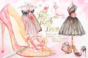 Little Black Dress Fashion Clipart