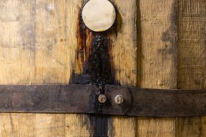 Bung in old bourbon whisky barrel