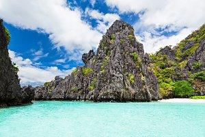 Lagoon in islands