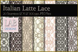 20 Lace Textures Italian Latte