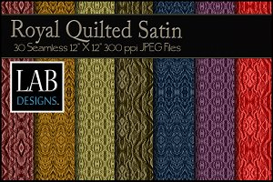 30 Royal Quilted Satin Textures