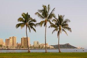 Waikiki skyline Oahu Hawaii