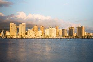 Skyline of Waikiki Oahu Hawaii