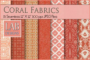 15 Seamless Coral Fabric Textures