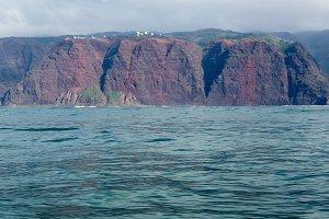 Rugged mountains on coast of Kauai