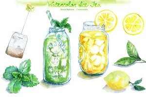 Watercolor Ice Tea
