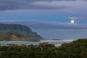 Na Pali mountains Hanalei Kauai