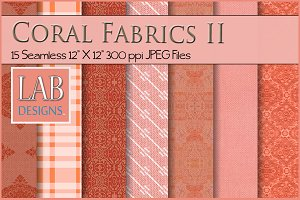 15 Seamless Coral Fabric Textueres 2