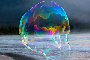 Large soap bubbles