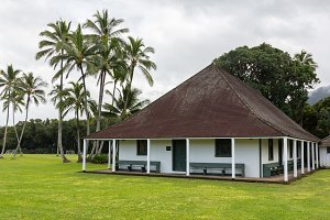 Old church and meeting hall Hanalei