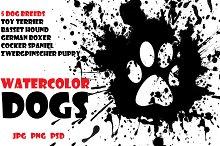 Watercolor Animals Set - DOGS Vol. 3