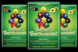 9-Ball Tournament Flyer Template