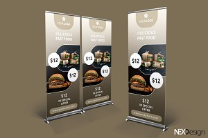 Fast Food Roll-Up Banner - SK