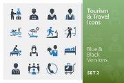 Tourism & Travel Icons Set 2 | Blue