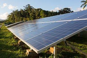 Industrial solar power panels