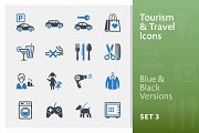 Tourism & Travel Icons Set 3 | Blue