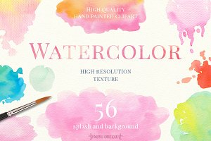 Hand Painted Watercolor Textures