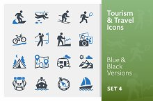 Tourism & Travel Icons Set 4 | Blue