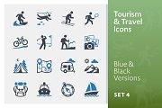 Tourism & Travel Icons Set 4 | Blue