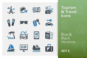 Tourism & Travel Icons Set 5 | Blue