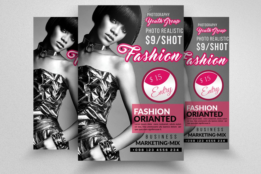 Fashion flyer template flyer templates creative market for Fashion flyers templates for free