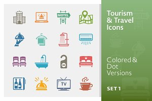 Tourism & Travel Icons 1 | Colored
